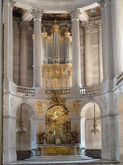 Versailles, Organ, Gold, Palatial, Church, Cathedral