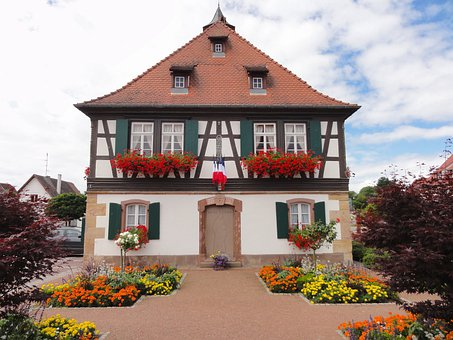 Seebach, France, House, Home, Sky, Clouds, Architecture