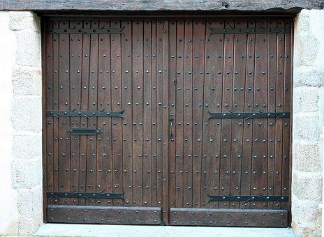 Double Doors, Brown Doors, Ancient Door, Antique Doors