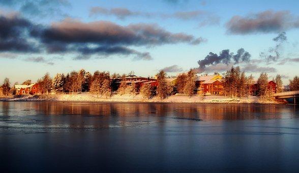 Pikisaari Island, Finland, Winter, Snow, Ice, Bay