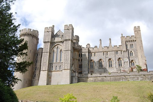 Castle, Sussex, Medieval, Landmark, British, Historic