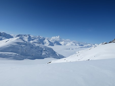 Snow, Landscape, Winter, Mountains, Nature, Sun, Canada