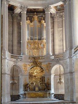 Versailles, Organ, Gold, Palatial, Church, Cathedral