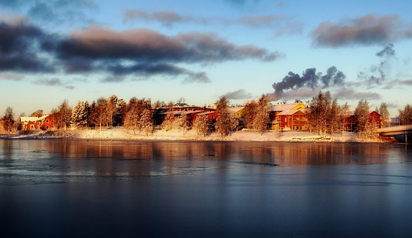 Pikisaari Island, Finland, Winter, Snow, Ice, Bay