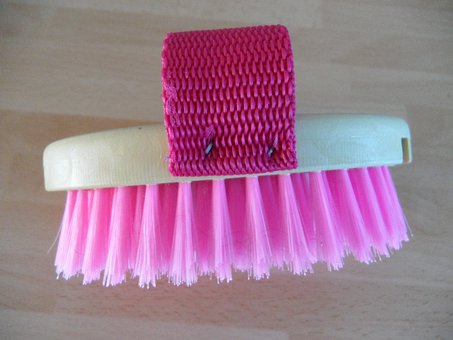 Brush, Horse Brush, Clean Horse, Curry, Pink