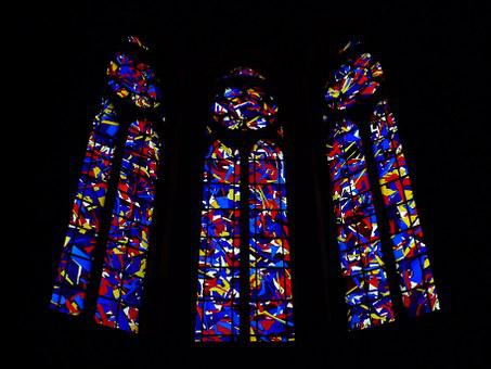 Glass, Stained, Reims, Cathedral, Imi Knoebel