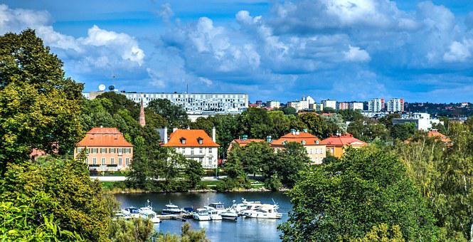 Stockholm, Sweden, Boats, Water, Nature, Architecture