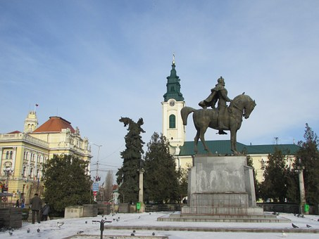 Oradea, Romania, Statue, Church, Saint Ladislas