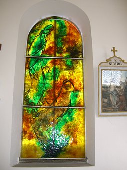 Glass Window, Artist Bernard Chardon, Cress, Chapel