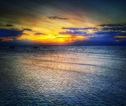 Moalboal, Cebu, Philippines, Asia, Beach, Sea, Water