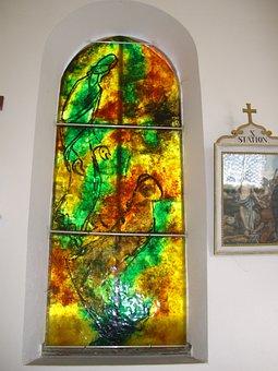 Glass Window, Artist Bernard Chardon, Cress, Chapel