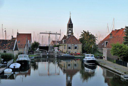 Port, Boats, Mooring, Sunset, Building, Tourism