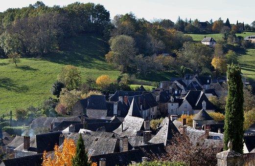 Corrèze, Lauze Roofs, Landscape, Village, Old Village
