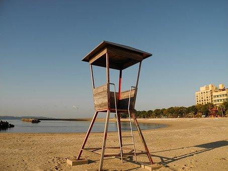 Kira, Japan, Watch Tower, Ocean, Sea, Beach, Seascape