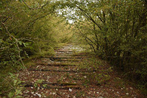 Abandoned Railroad Trasse, Railway Line