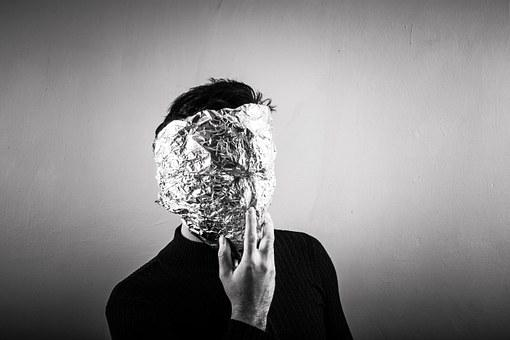 Anonymous, Aluminum, Aluminium, Foil, Mask, Person