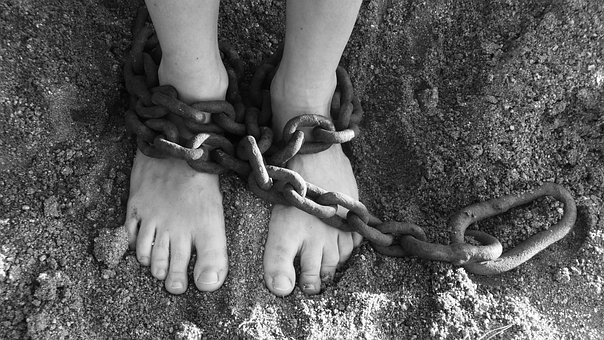Chains, Feet, Sand, Bondage, Prison, Freedom