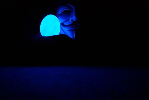 Guy Fawkes, Anonymous, Mask, Blue, Masquerade, Carnival