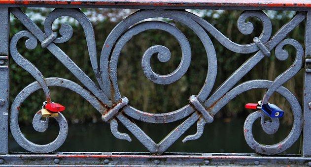 Love Locks, Railing, Symbol, Love Symbol, Eternal Love