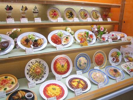 Fake Plastic Food, Showcase Restaurant, Japan