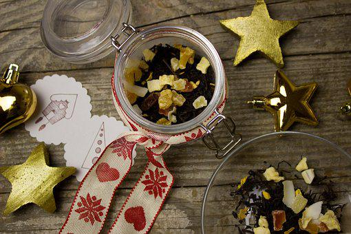 Tee, Christmas, Tea Mix, Dried, Fruits, Dried Fruit
