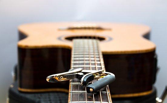 Guitar, Capodaster, Music, Acoustic Guitar