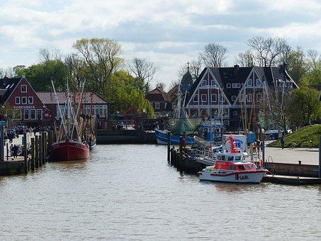 Neuharlingersiel, East Frisia, Coast, Port, North Sea