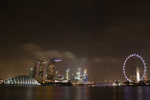 Singapore, Singaporeflyer, Marinabaysands, Landscape
