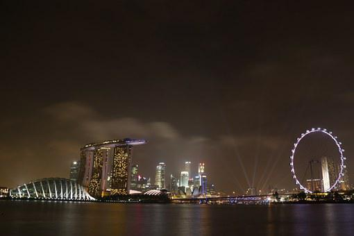 Singapore, Singaporeflyer, Marinabaysands, Landscape