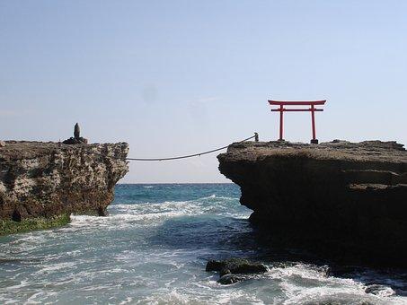 Shirahama Coast, Tori, Sea, Spirituality, Japan