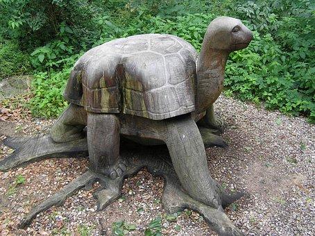 Turtle, Animals, Kanske, Wooden, Sculpture