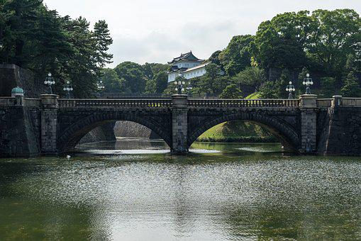 Asian, Bridge, Canal, Chiyoda, Heritage, Imprial, Japan