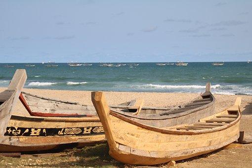 Boats, Wooden Boat, Shipbuilder, Ghana, Coast, Ship