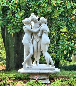 Statue, Marble Sculpture, The Three Graces, Marble