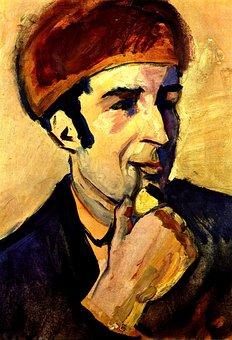 Portrait, Painting, Painter, Expressionist