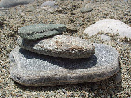 Rocks, Sculpture, Balance, Pebble, Stones, Sea, Summer