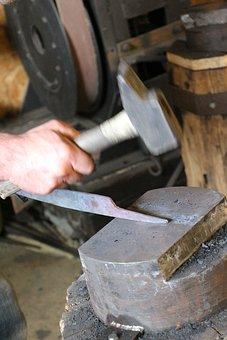 Work, Metal, Steel, Forge, Blacksmith, Anvil