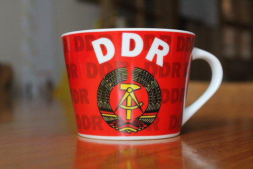 Cup, Porcelain, Ddr, Colorful, Henkel, Coffee
