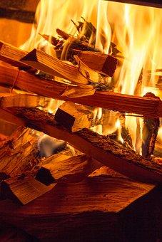 Fire, Flame, Wood, Burn, Flame Log Fire, Wood Fire