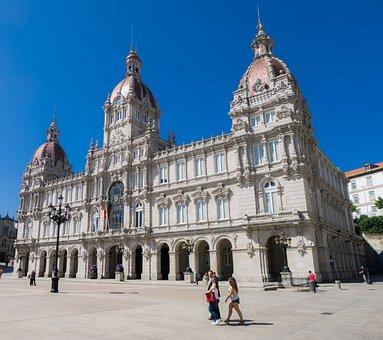 Coruña, Building, Palace, Plaza, Historical