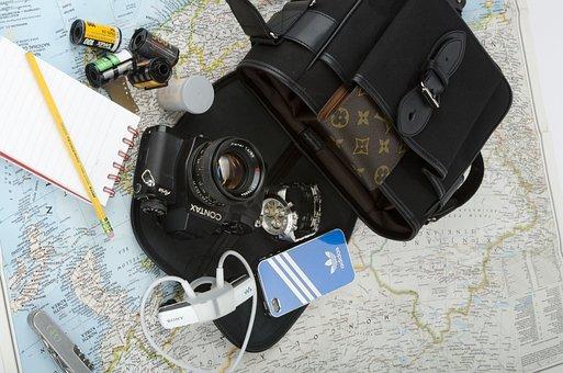 Kamaera, Travel, Map, Film, Contax, Iphone, Adidas, Bag