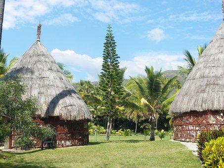 Box, New Caledonia, Coconut, Straw
