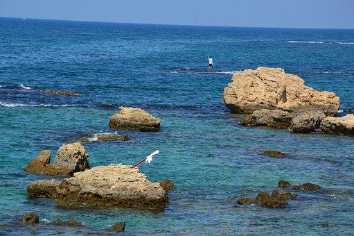 Lebanon, Sea, Mediterranean, Water, Rocky Coast