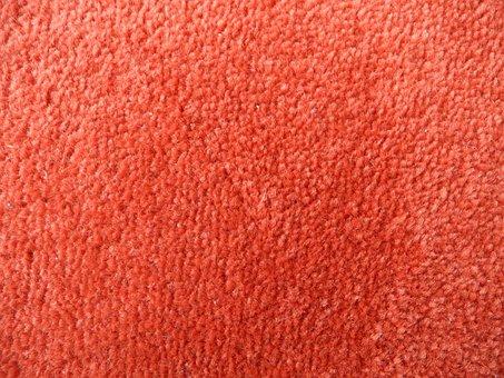 Textile, Texture, Background, Carpet, Orange, Soft
