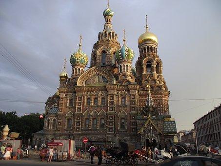 Petersburg, Church, Savior On Blood, Russia