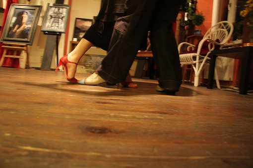 Dance, Pair, Dance Steps, Shoes, Red