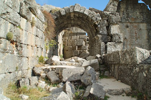 Goal, City, Antiquity, Architecture, Columnar, Ruin