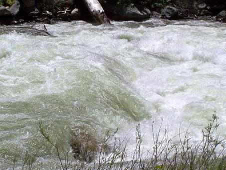 Gushing Water, River, Stream, Landscape, Natural, Creek
