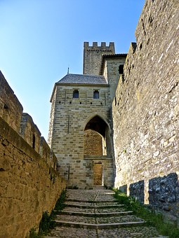 Castle, Stairs, Entrance, Medieval, Wall, Staircase
