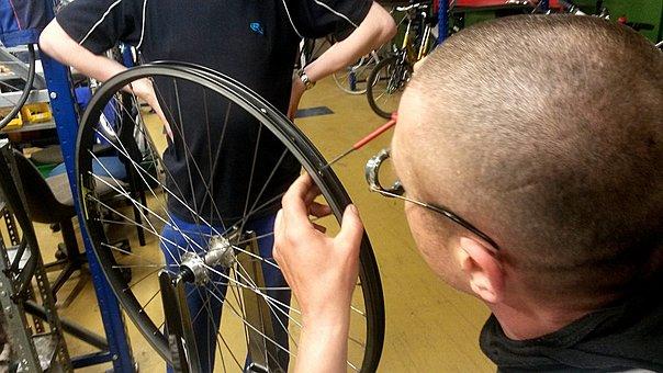 Bike, Rim, Centering, Wheel Truing Stand